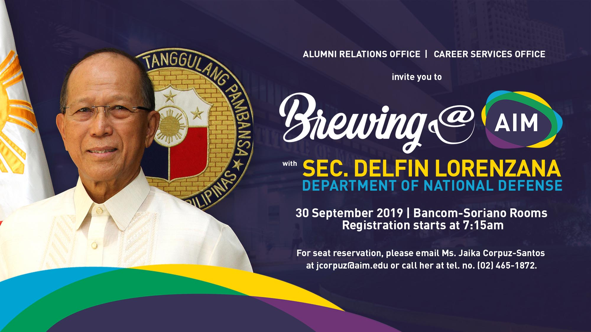 Brewing@AIM with Sec. Delfin Lorenzana, Department of National Defense