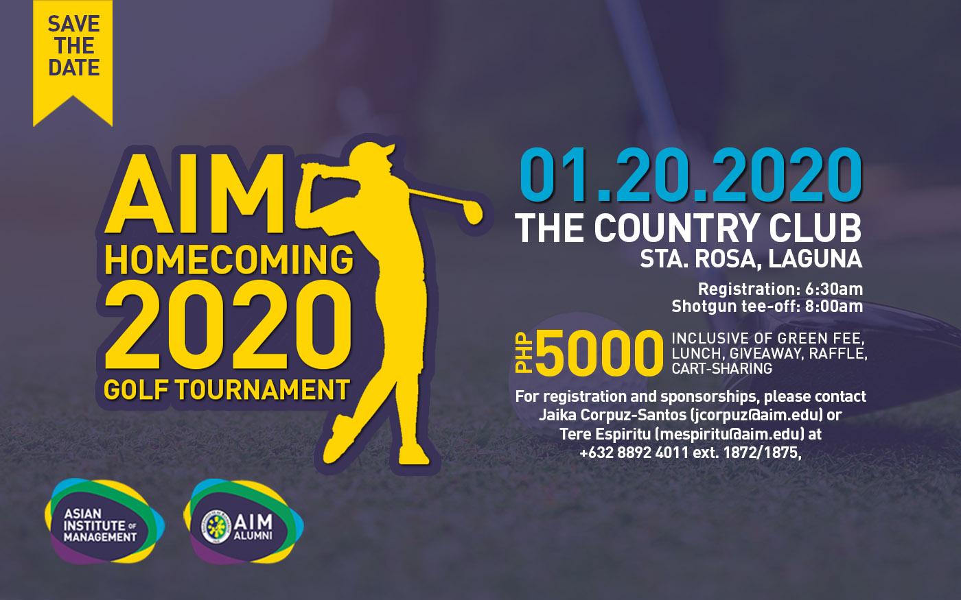 AIM Homecoming 2020 Golf Tournament