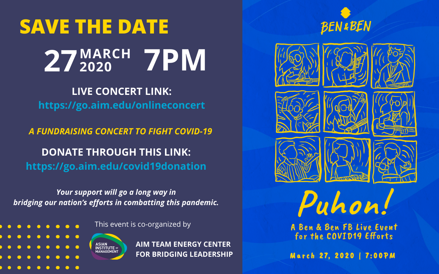 Puhon: A Ben and Ben Fundraising Online Concert to Fight COVID-19