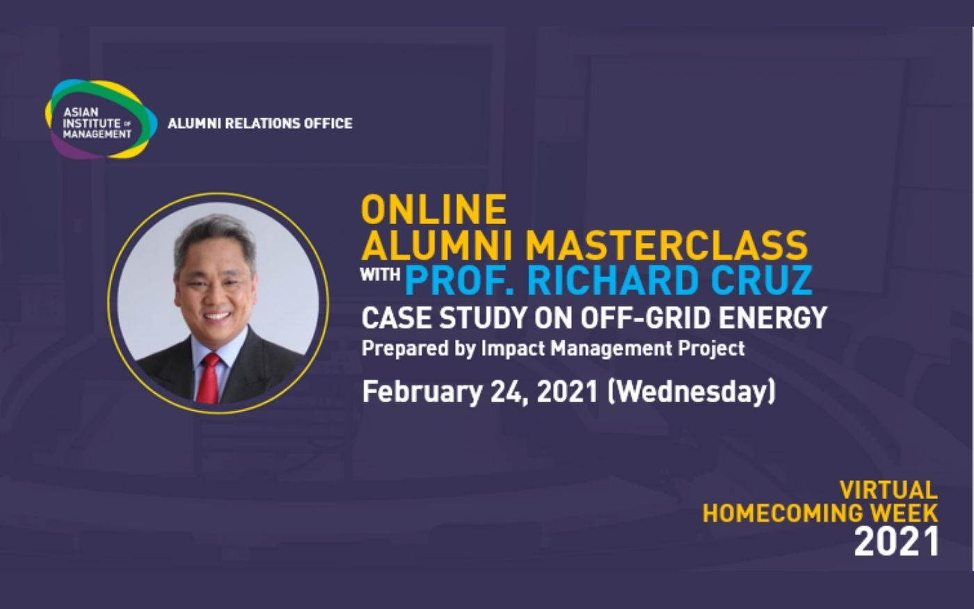 Online Alumni Masterclass with Prof. Richard Cruz